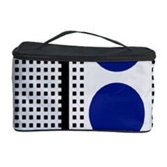 Watermark Circle Polka Dots Black Red Yellow Plaid Cosmetic Storage Case by Mariart