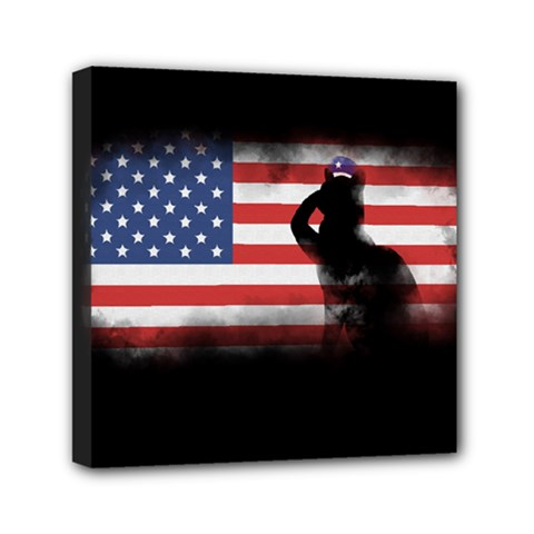 Honor Our Heroes On Memorial Day Mini Canvas 6  X 6  by Catifornia