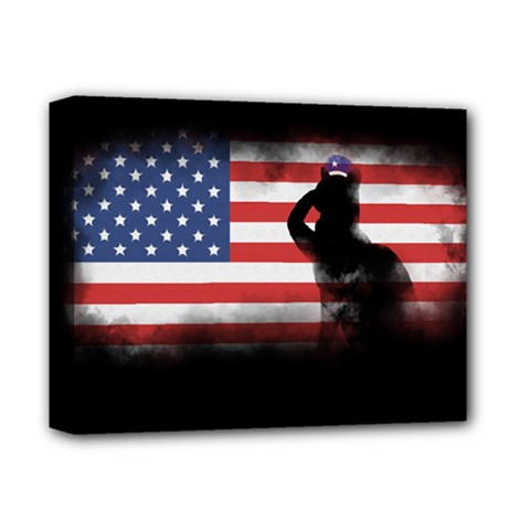 Honor Our Heroes On Memorial Day Deluxe Canvas 14  X 11  by Catifornia