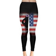 Honor Our Heroes On Memorial Day Leggings  by Catifornia