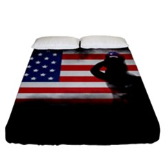 Honor Our Heroes On Memorial Day Fitted Sheet (king Size) by Catifornia