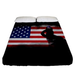 Honor Our Heroes On Memorial Day Fitted Sheet (california King Size) by Catifornia