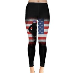Honor Our Heroes On Memorial Day Classic Winter Leggings by Catifornia