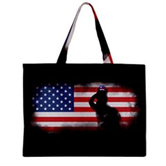Honor Our Heroes On Memorial Day Zipper Mini Tote Bag by Catifornia