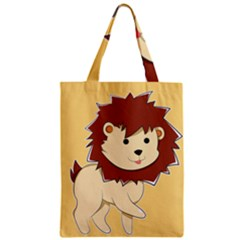 Happy Cartoon Baby Lion Classic Tote Bag by Catifornia
