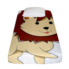 Happy Cartoon Baby Lion Fitted Sheet (single Size) by Catifornia