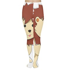 Happy Cartoon Baby Lion Women s Tights by Catifornia