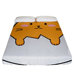 Yellow Cat Egg Fitted Sheet (california King Size) by Catifornia