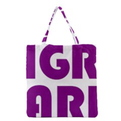 Migraine Warrior With Ribbon Grocery Tote Bag by MigraineursHideout