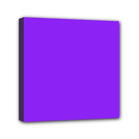 Neon Purple Solid Color  Mini Canvas 6  X 6  by SimplyColor