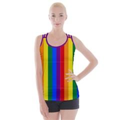 Pride Flag Crisscross Back Tank Top