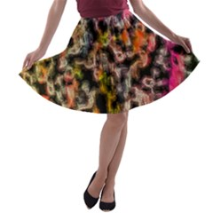 Colorful Texture                     A Line Skirt