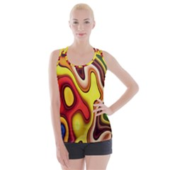 Colorful 3d Shapes                    Crisscross Back Tank Top