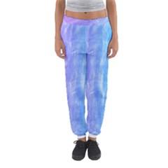 Blue Purple Watercolors                     Women s Jogger Sweatpants by LalyLauraFLM