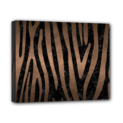 Skin4 Black Marble & Bronze Metal (r) Canvas 10  X 8  (stretched) by trendistuff