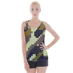 Digital Camo Crisscross Back Tank Top