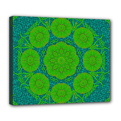 Summer And Festive Touch Of Peace And Fantasy Deluxe Canvas 24  X 20   by pepitasart