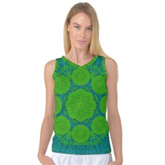 Summer And Festive Touch Of Peace And Fantasy Women s Basketball Tank Top by pepitasart