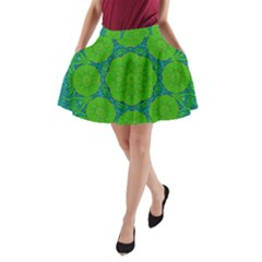 Summer And Festive Touch Of Peace And Fantasy A Line Pocket Skirt by pepitasart