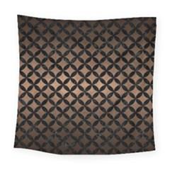 Circles3 Black Marble & Bronze Metal (r) Square Tapestry (large) by trendistuff