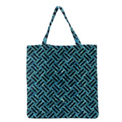 Woven2 Black Marble & Blue Green Water (r) Grocery Tote Bag by trendistuff