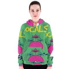Behance Feelings Beauty Local Polka Dots Green Women s Zipper Hoodie by Mariart
