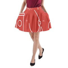 Caffeine And Breastfeeding Coffee Nursing Red Sign A Line Pocket Skirt by Mariart