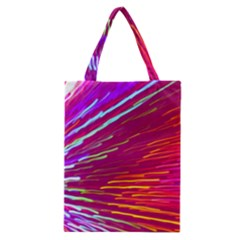 Zoom Colour Motion Blurred Zoom Background With Ray Of Light Hurtling Towards The Viewer Classic Tote Bag by Mariart