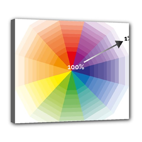 Colour Value Diagram Circle Round Deluxe Canvas 24  X 20   by Mariart