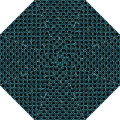 Scales2 Black Marble & Blue Green Water Hook Handle Umbrella (medium) by trendistuff