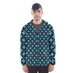 Circles3 Black Marble & Blue Green Water (r) Hooded Wind Breaker (men) by trendistuff