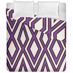 Diamond Key Stripe Purple Chevron Duvet Cover Double Side (california King Size) by Mariart