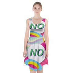 Lightning Polka Dots Circle Pink Waves Behance Feelings Beauty Racerback Midi Dress by Mariart