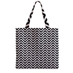 Funky Chevron Stripes Triangles Zipper Grocery Tote Bag by Mariart
