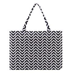 Funky Chevron Stripes Triangles Medium Tote Bag by Mariart