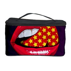 Lip Vector Hipster Example Image Star Sexy Purple Red Cosmetic Storage Case by Mariart