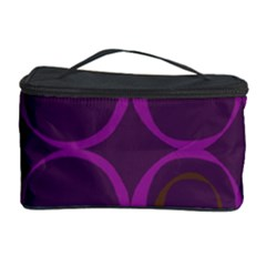 Original Circle Purple Brown Cosmetic Storage Case by Mariart