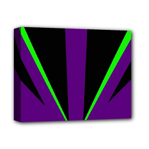 Rays Light Chevron Purple Green Black Line Deluxe Canvas 14  X 11  by Mariart