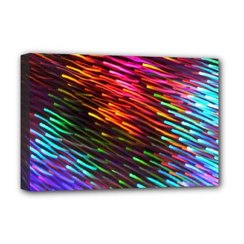 Rainbow Shake Light Line Deluxe Canvas 18  X 12   by Mariart