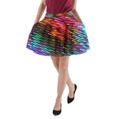 Rainbow Shake Light Line A Line Pocket Skirt by Mariart