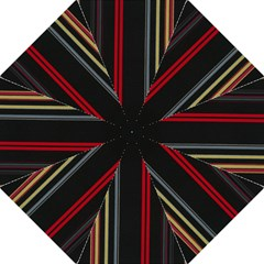 Stripes Line Black Red Golf Umbrellas by Mariart