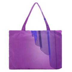 Verre Bleu Wave Chevron Waves Purple Medium Zipper Tote Bag by Mariart