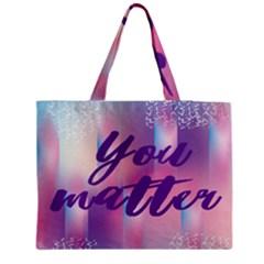 You Matter Purple Blue Triangle Vintage Waves Behance Feelings Beauty Medium Tote Bag by Mariart