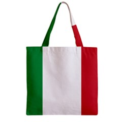 National Flag Of Italy  Zipper Grocery Tote Bag by abbeyz71