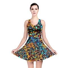 Colorful Seashell Beach Sand Reversible Skater Dress by Costasonlineshop
