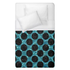 Circles2 Black Marble & Blue Green Water (r) Duvet Cover (single Size) by trendistuff