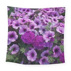 Wonderful Lilac Flower Mix Square Tapestry (large) by MoreColorsinLife