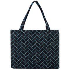 Brick2 Black Marble & Blue Green Water Mini Tote Bag by trendistuff