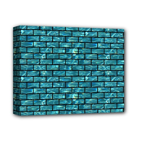 Brick1 Black Marble & Blue Green Water (r) Deluxe Canvas 14  X 11  (stretched) by trendistuff