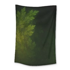 Beautiful Fractal Pines In The Misty Spring Night Small Tapestry by jayaprime